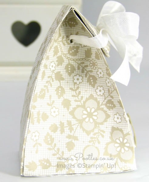 Stampin' Up! Demonstrator Pootles - Fold Over Smooth Domed Bag Tutorial Side Profile