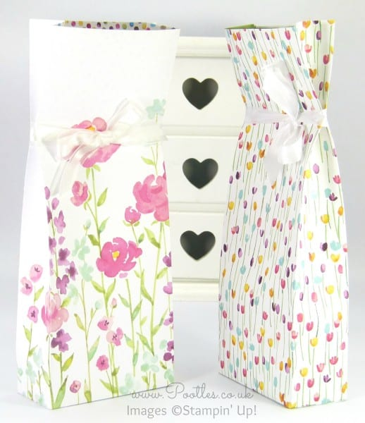 Stampin' Up! Demonstrator Pootles - Painted Blooms Bag Tutorial