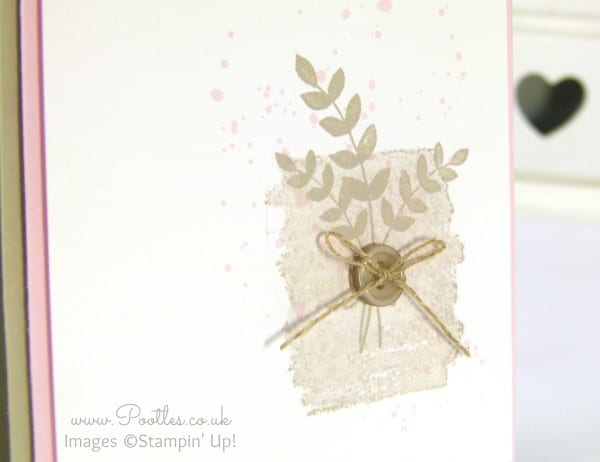 Stampin' Up! Demonstrator Pootles - Sahara Sand meets Pink Pirouette! Close Up