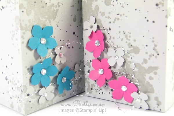 Stampin' Up! Gorgeous Grunge Flat Topped Milk Carton Tutorial Close Up