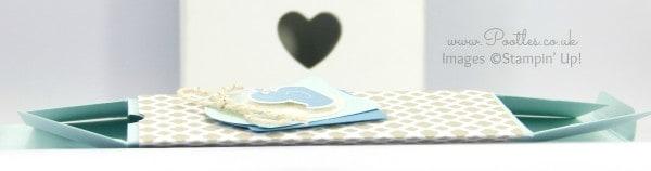 Stampin' Up! UK Demonstrator Pootles - Fold Flat Baby Bib Box Tutorial Flattened