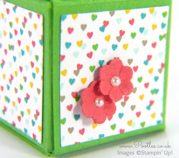 Super Tiny Box Tutorial using Stampin' Up! Supplies close up