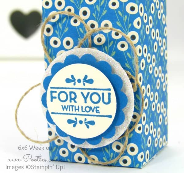 Pootles 6x6 Week #3 Slim Milk Carton Tutorial Stampin Detail