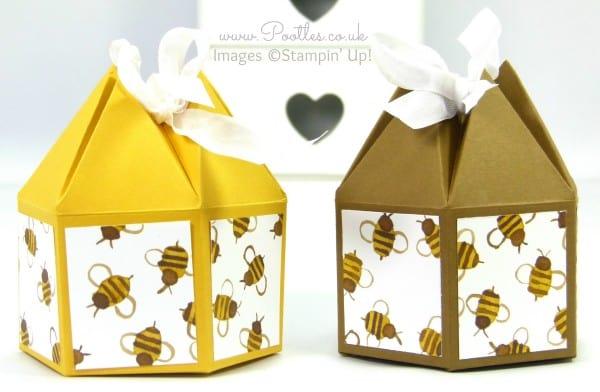 Pootles' Beehive Box Tutorial using Stampin' Up! DSP