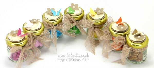 Stampin' Up! Demonstrator Pootles - Adorable Sweetie Jar Favours Overhead