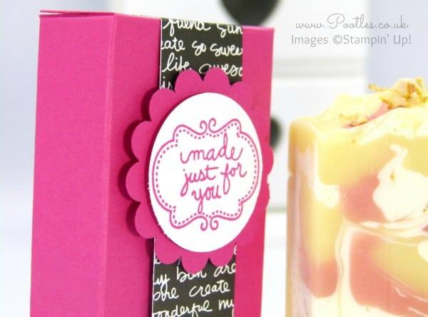 Stampin' Up! Demonstrator Pootles - Artisan Soap Box Tutorial Close Up