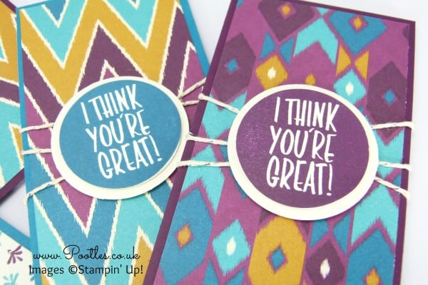 Stampin' Up! Demonstrator Pootles - Bohemian Team Welcome Gifts Stamping Detail