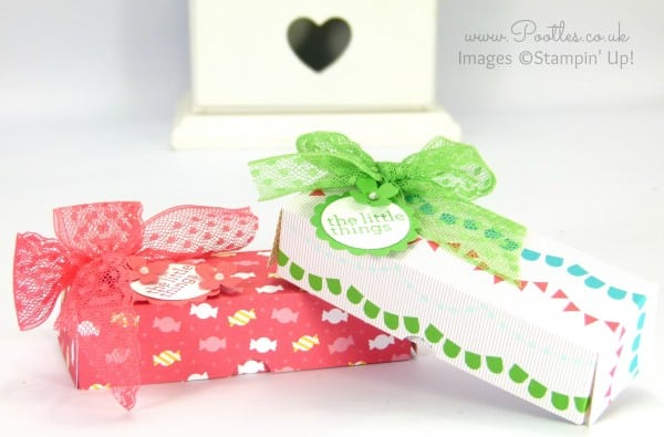 Stampin' Up! Demonstrator Pootles - Cherry On Top Sweetie Treat Box Tutorial