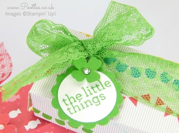 Stampin' Up! Demonstrator Pootles - Cherry On Top Sweetie Treat Box Tutorial Close Up