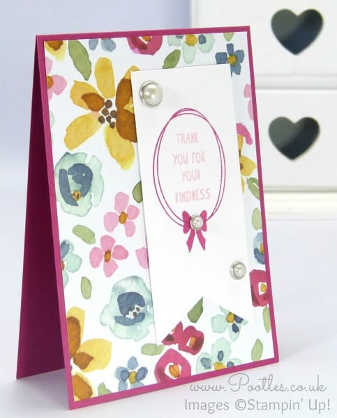 Stampin' Up! Demonstrator Pootles - English Garden Thank You Card