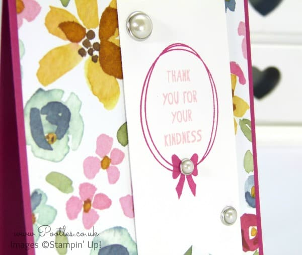 Stampin' Up! Demonstrator Pootles - English Garden Thank You Card Stamped Detail