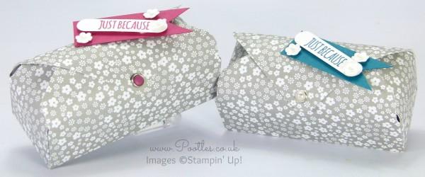 Stampin' Up! Demonstrator Pootles - Envelope Punch Board Floral Box Tutorial