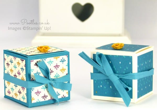 Stampin' Up! Demonstrator Pootles - Fold Flat Bohemian Cube Box Tutorial