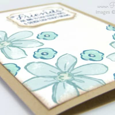 Garden in Bloom Card with Crystal Effects