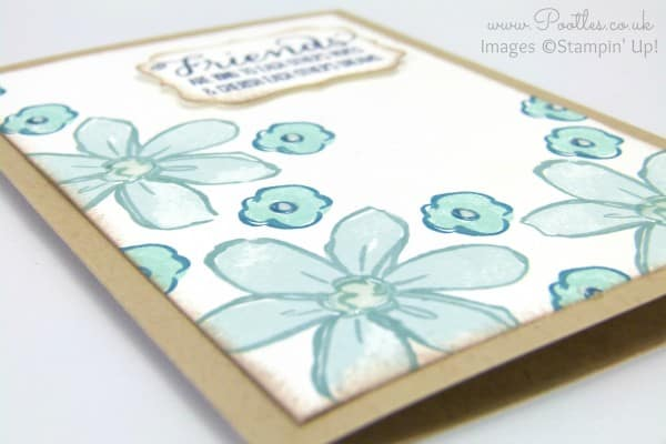 Stampin' Up! Demonstrator Pootles - Garden in Bloom Card with Crystal Effects Side Profile