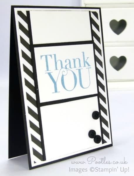 Stampin' Up! Demonstrator Pootles - Monochrome Marina Mist, Thank You!