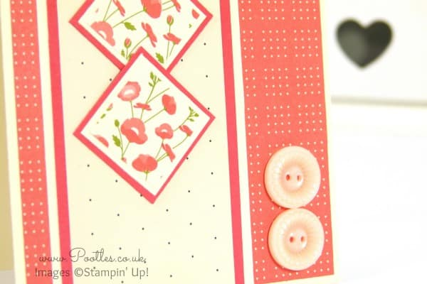 Stampin' Up! Demonstrator Pootles - Pretty Petals Inchie Card Close Up