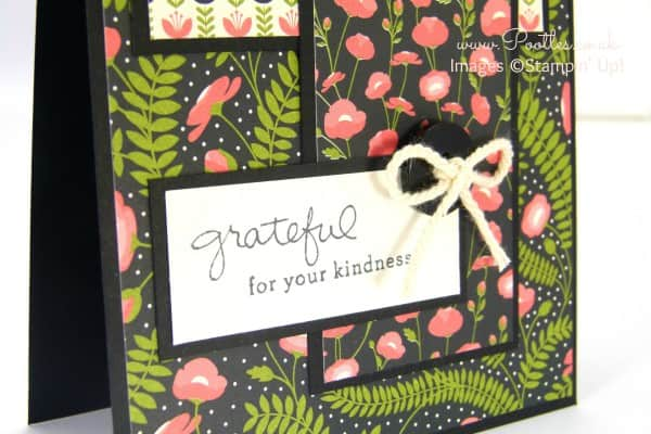 Stampin' Up! Demonstrator Pootles - Pretty Petals Layered Card Close Up