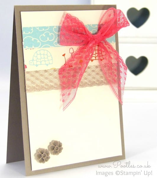 Stampin' Up! Demonstrator Pootles - Sweet Li'l Things Banner Card