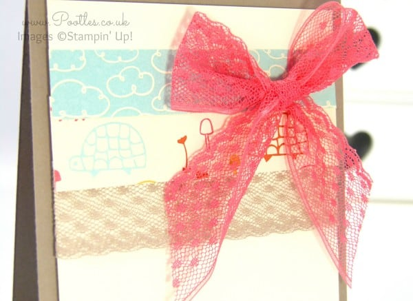 Stampin' Up! Demonstrator Pootles - Sweet Li'l Things Banner Card Bow Detail