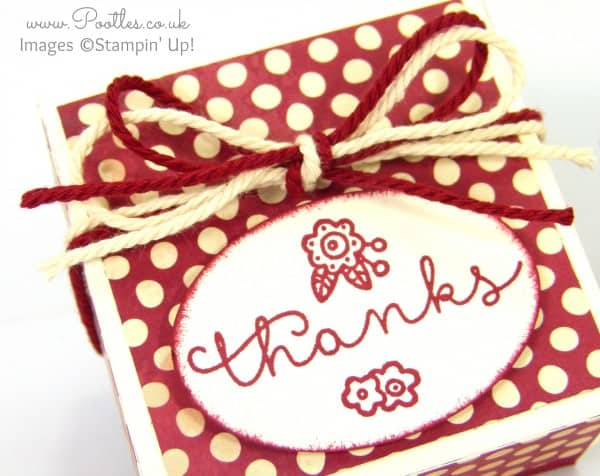 Stampin' Up! Farmer's Market Lidded Box Tutorial Close Up