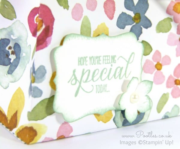 Stampin' Up! UK Demonstrator Pootles - English Garden Bag Tutorial Stamping Detail