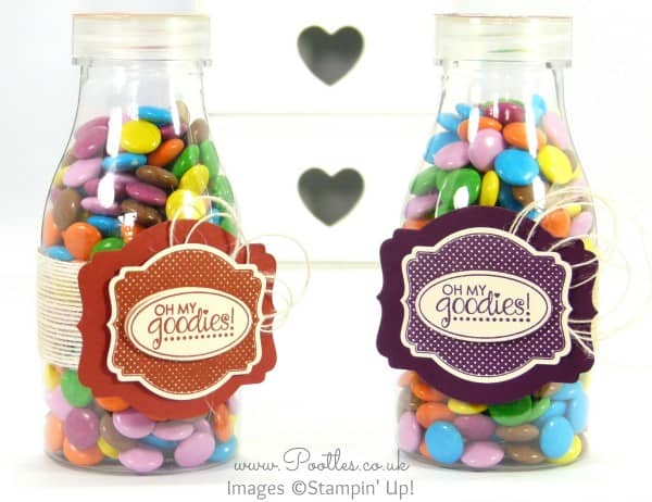 Stampin' Up! UK Demonstrator Pootles - Father's Day Sweetie Bottle with Deco Labels