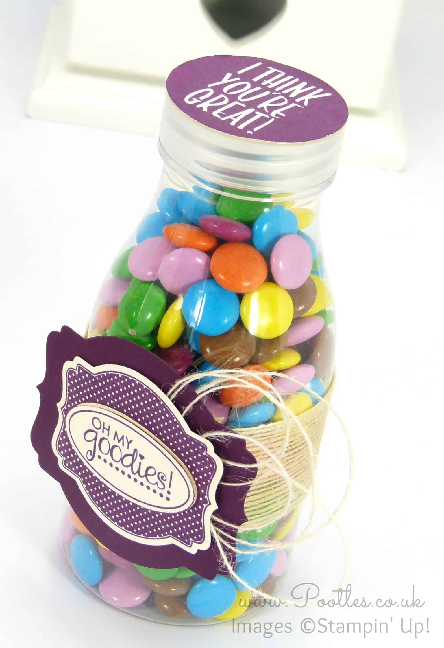 Father's Day Sweetie Bottle with Deco Labels