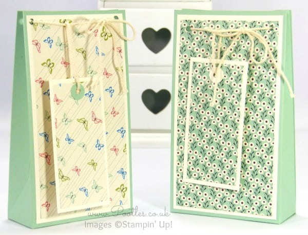 Stampin' Up! UK Demonstrator Pootles - Pretty Petals Gift Bag Box Tutorial
