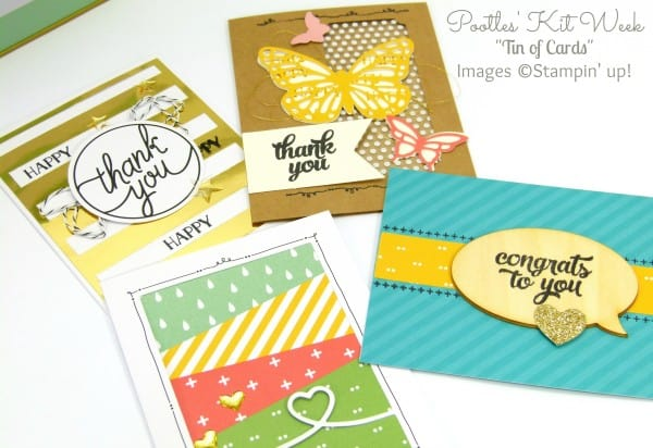 Pootles Kit Week #2 - Tin of Cards Project Kit The Cards