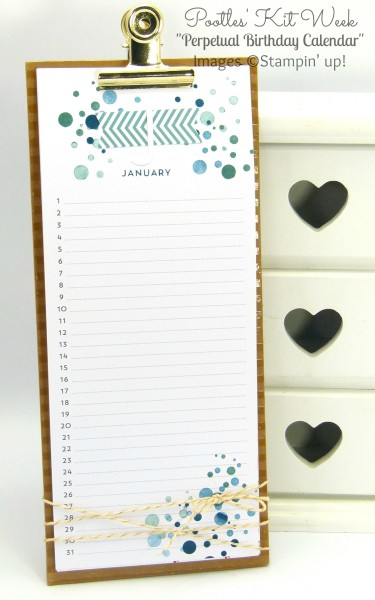 Pootles Kit Week #3 - Perpetual Birthday Calendar Project Kit