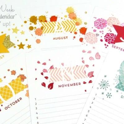 Pootles Kit Week #3 – Perpetual Birthday Calendar Project Kit