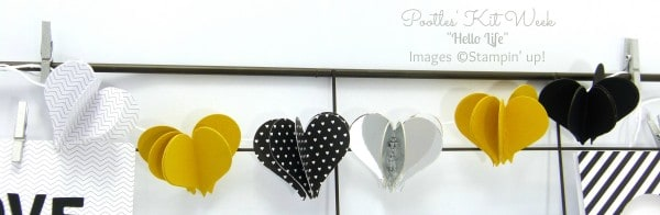 Pootles Kit Week #4 - Hello Life Project Kit Heart Banner