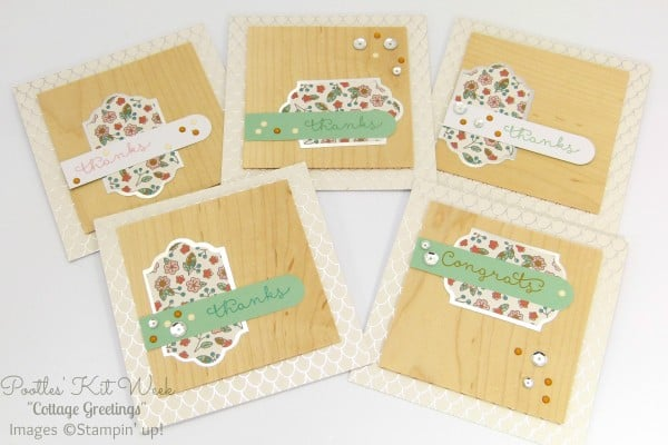 Pootles Kit Week #5 - Cottage Greetings Card Kit The White Ones