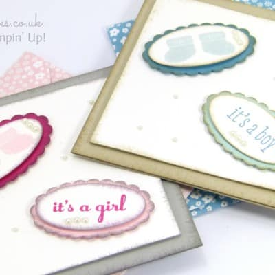 South Hill Designs & Stampin' Up! Sunday Baby Cards Tutorial
