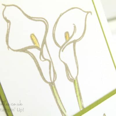 Calla Lily Card using Stampin' Up! Remarkable You Stamp Set