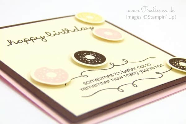 Stampin' Up! Demonstrator Pootles - Ice Cream Colour Doughnuts with Sprinkles on Top! 3D view