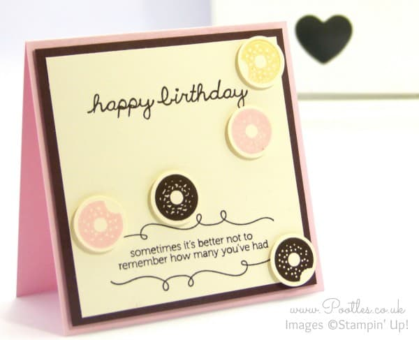 Stampin' Up! Demonstrator Pootles - Ice Cream Colour Doughnuts with Sprinkles on Top!