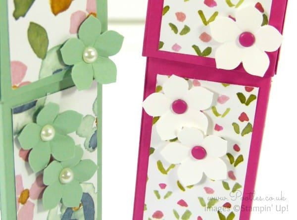 Stampin' Up! Demonstrator Pootles - Pretty English Garden Pen Pot Tutorial Punch Detail
