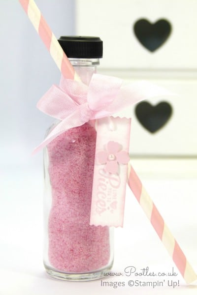 Stampin' Up! Demonstrator Pootles - Sherbet Bottles and Straws! Close Up Single Bottle