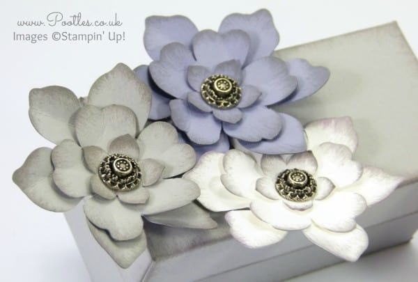 Stampin' Up! Demonstrator Pootles - Softened Floral Box Tutorial Flowers