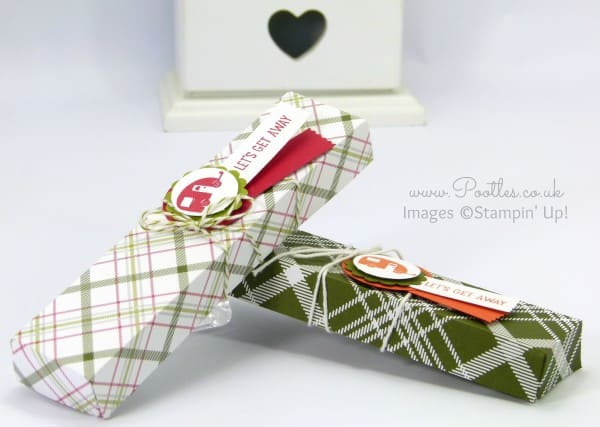 Stampin' Up! Demonstrator Pootles - Summer Camping Candle Box Tutorial using Christmas Paper