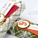 Summer Camping Candle Box Tutorial using Christmas Paper