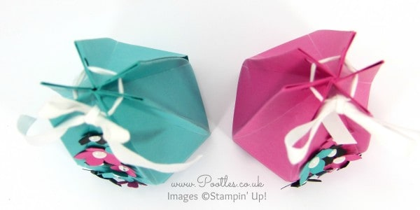 Stampin' Up! Demonstrator Pootles - The Tall Skinny Hexagonal Box Tutorial Overhead