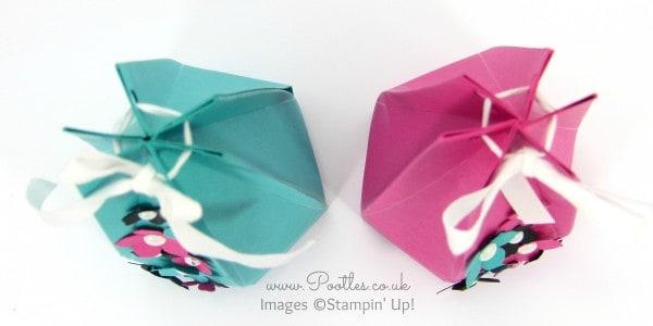 Stampin' Up! Demonstrator Pootles - The Tall Skinny Hexagonal Box Tutorial Overhead