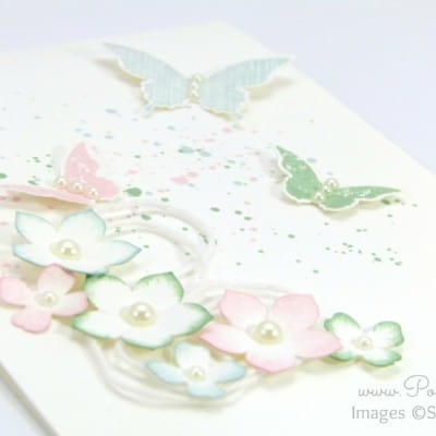 Thick Cardstock, Butterflies and Flowers