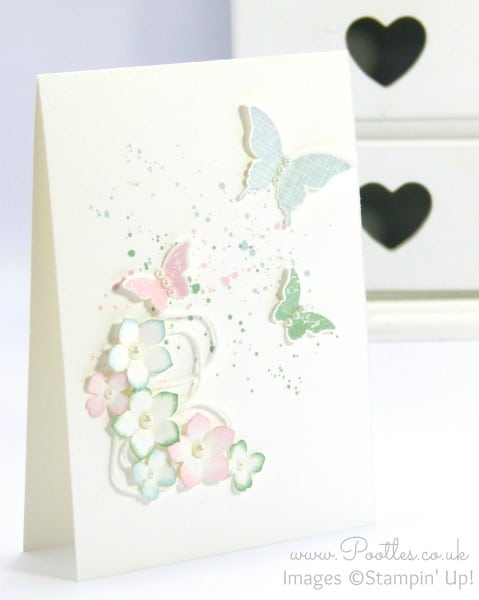 Stampin' Up! Demonstrator Pootles - Thick Cardstock, Butterflies and Flowers