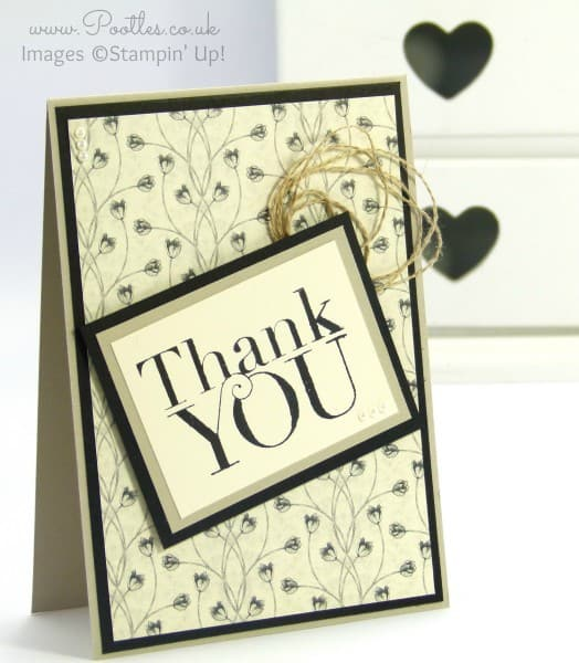 Stampin' Up! Demonstrator Pootles - Timeless Elegance Thank You Card