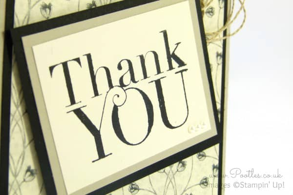 Stampin' Up! Demonstrator Pootles - Timeless Elegance Thank You Card close up