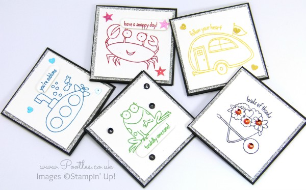 Stampin' Up! Demonstrator Pootles - You're Sublime Set of 3 x 3 Cards